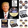 Президент США Дональд Трамп, позолоченная/Посеребренная памятная монета, новинка, Реплика вызова, монета в подарочной коробке, коллекционн...