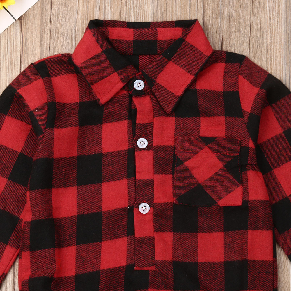 Ha287afe4c9ad4b0d8f8ce9e22eed3cd93 Pudcoco Baby Girls And Boys Unisex Clothes Christmas Plaid Rompers Newborn Baby 0-18 Monthes Fits One Piece Suit Cartoon Elk New