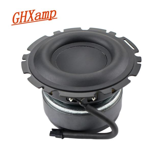 GHXAMP Speaker 4.5 inch Bass Subwoofer Loudspeaker Mid bass Large Rubber Composite Aluminum Basin 4OHM 90dB 50W for Peerless