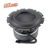 GHXAMP altavoz de graves de 4,5 pulgadas, Subwoofer de bajo medio, gran lavabo de aluminio compuesto de goma, 4OHM, 90dB, 50W, para Peerless