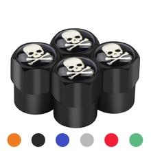 Airtight-Covers Car-Tire-Valve-Caps Mastermind Japan Valves Wheel-Tires Skull Aluminum