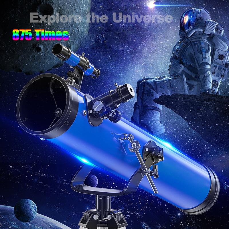 Профессиональный астрономический телескоп 875X, обновление, окуляр 1,25 дюйма, Full HD, фотография, глубокое пространство, звезда, луна, для активн...