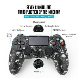 Image 4 - Беспроводной геймпад для PS4, контроллер для электронной сигареты PS4, джойстик с Bluetooth