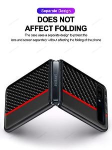 Image 5 - GRMAหรูหราของแท้หนังคาร์บอนไฟเบอร์สำหรับSamsung Galaxy Z FlipกรณีSM F7000 Galaxy Z Flip Aramidฝาครอบโทรศัพท์