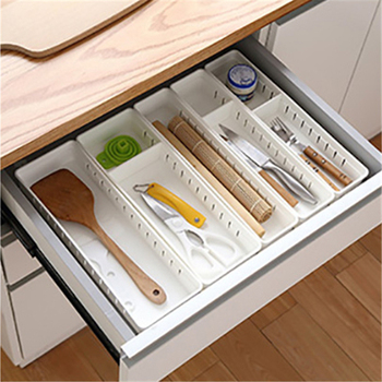 Plastic Kitchen Drawer Organizer and Cutlery Storage Tray for Home Kitchen Decoration