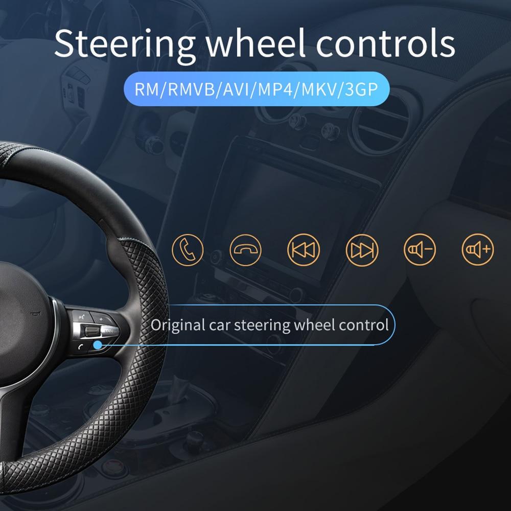 Podofo One din Car radio MP5 Player GPS Navigation Multimedia car audio stereo Bluetooth 7 HD Retractable Autoradio AUX-IN FM (3)