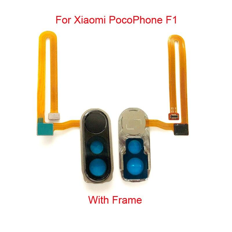 Pour Xiaomi PocoPhone F1 réparation Scanner d'empreintes digitales capteur d'empreintes digitales tactile ID Scanner accueil Menu bouton Flex câble ruban