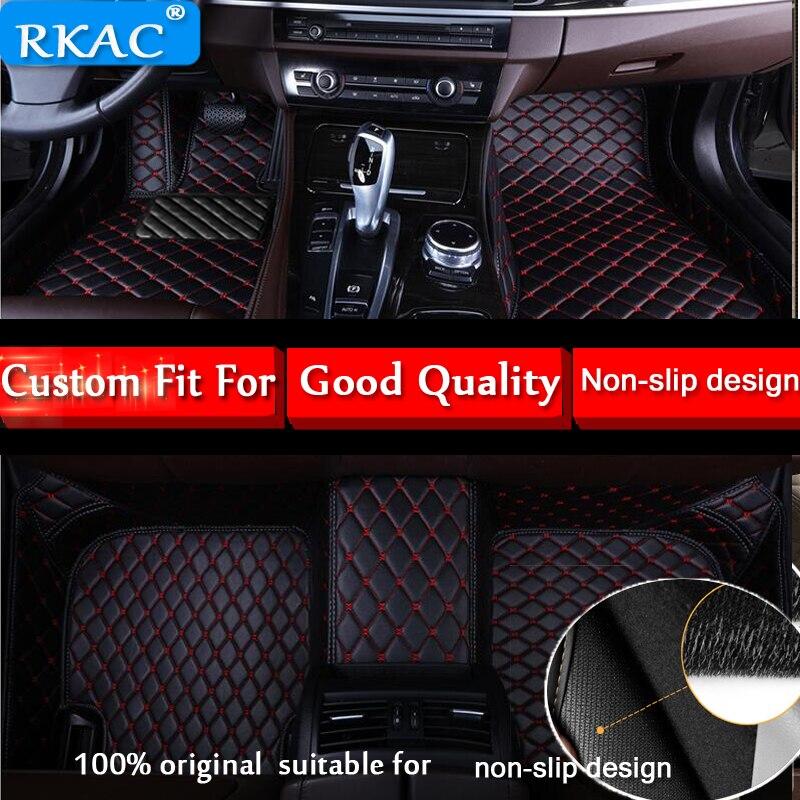 RKAC Custom fit car floor mats for Toyota Land Cruiser 200 Prado 150 120 Rav4 Corolla Avalon Highlander Camry car styling liner