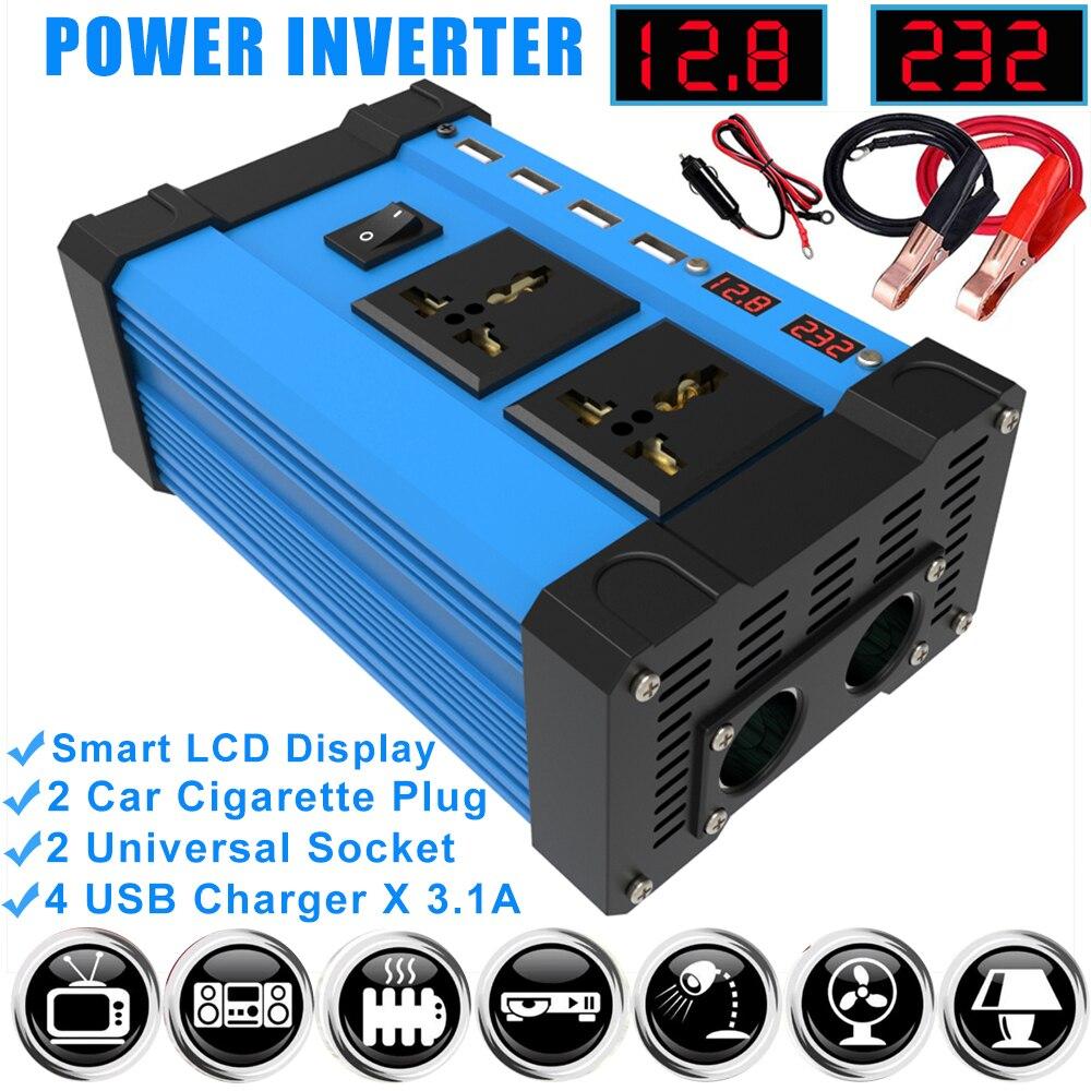 4000W фары для автомобилей Мощность инвертор 12 V 220V 110V инвертор постоянного тока в переменный инвертор солнечной установки 12 V 220V синусоида пре...