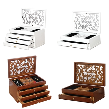 Two Layer Organizer Wood Jewelry Box
