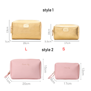 Women Cosmetic Bag For Makeup Pouch Female Portable Beauty Toiletry Travel Organizer Case Ladies Big Gold Silver Makeup Bag 2019 2