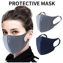 1 шт. моющиеся черная маска для лица женщины мужчины твердые многоразовые лица тушь для ресниц мода зима держать теплый маска Шарф#0708LJC