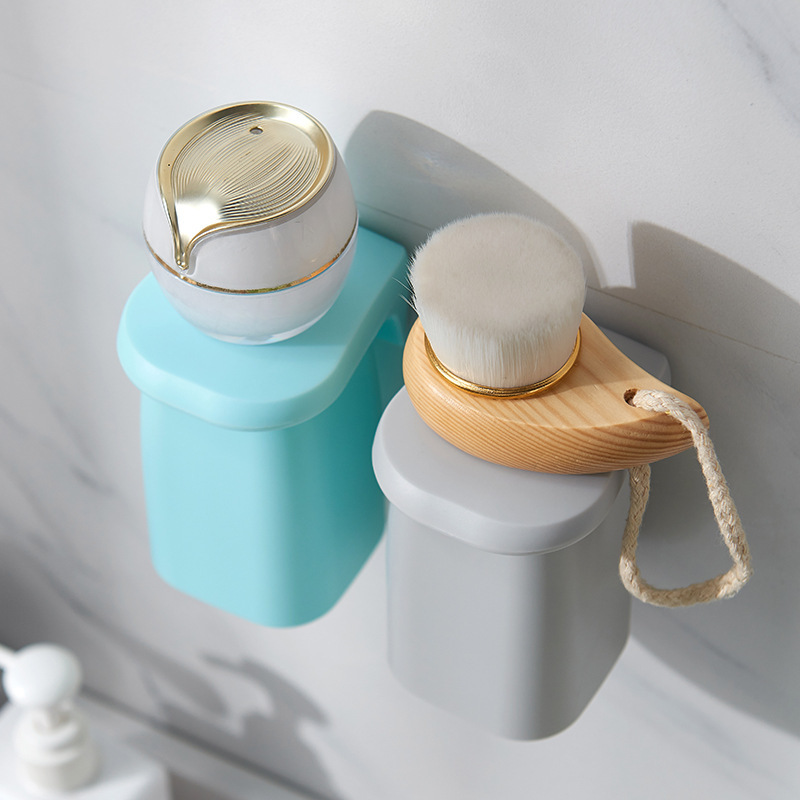 Bathroom Magnetic Suction Mouthwash Cup Wall-mounted Plastic Drain Shelf Holder Tooth Brushing Cups Household OW