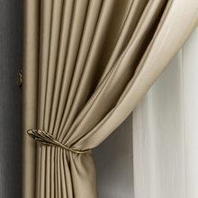 Seda artificial de alta precisão tecido cortina térmica luz luxo moderno quarto terminou cortinas para sala de estar