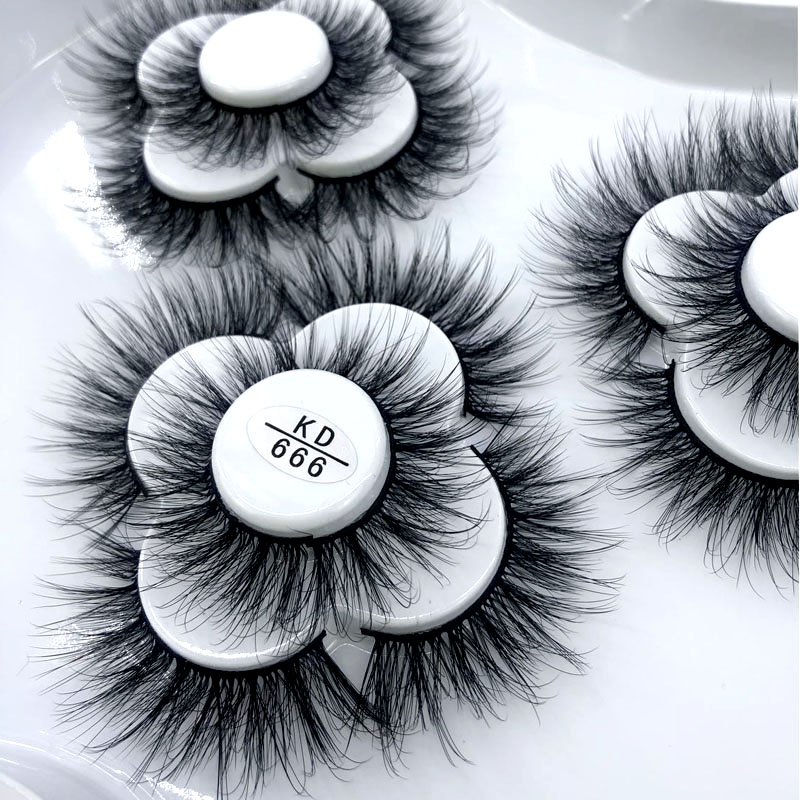 9 Pairs 25 mm 3d Mink Lashes Bulk Faux with Custom Box Wispy Natural Mink Lashes Pack Short Wholesales Natural False Eyelashes