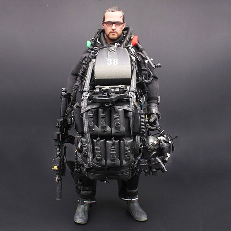 1/6 Scale M004 US NAVY Seal Halo UDT Night Diving Paratrooper Jumper Model For 12