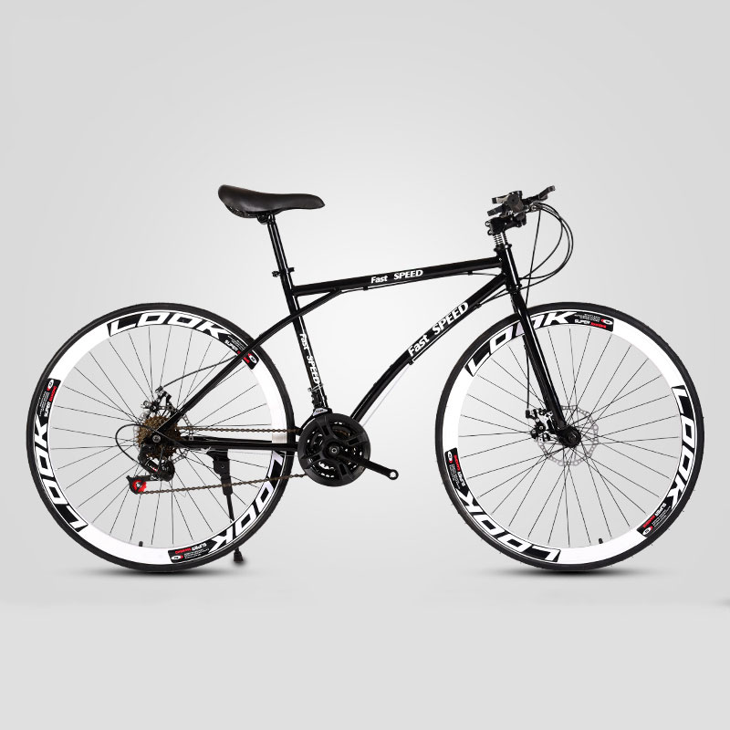 Road Bike 26 Inch 27 Speed Fixed Gear Double Disc Brake Adult Student Men And Women Bicycle Mountain Cross Country