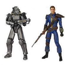 Figura de acción Fallout 4 en dos colores de 16cm, armadura eléctrica, juguetes de colección
