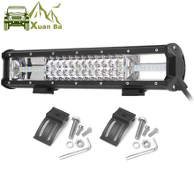 Triple Reihe Led Work Light Off road Bar Für 12V Auto Uza Boot ATV 4WD Suv Lkw 4x4 Offroad Lada Niva Combo Fahren Barra Lichter