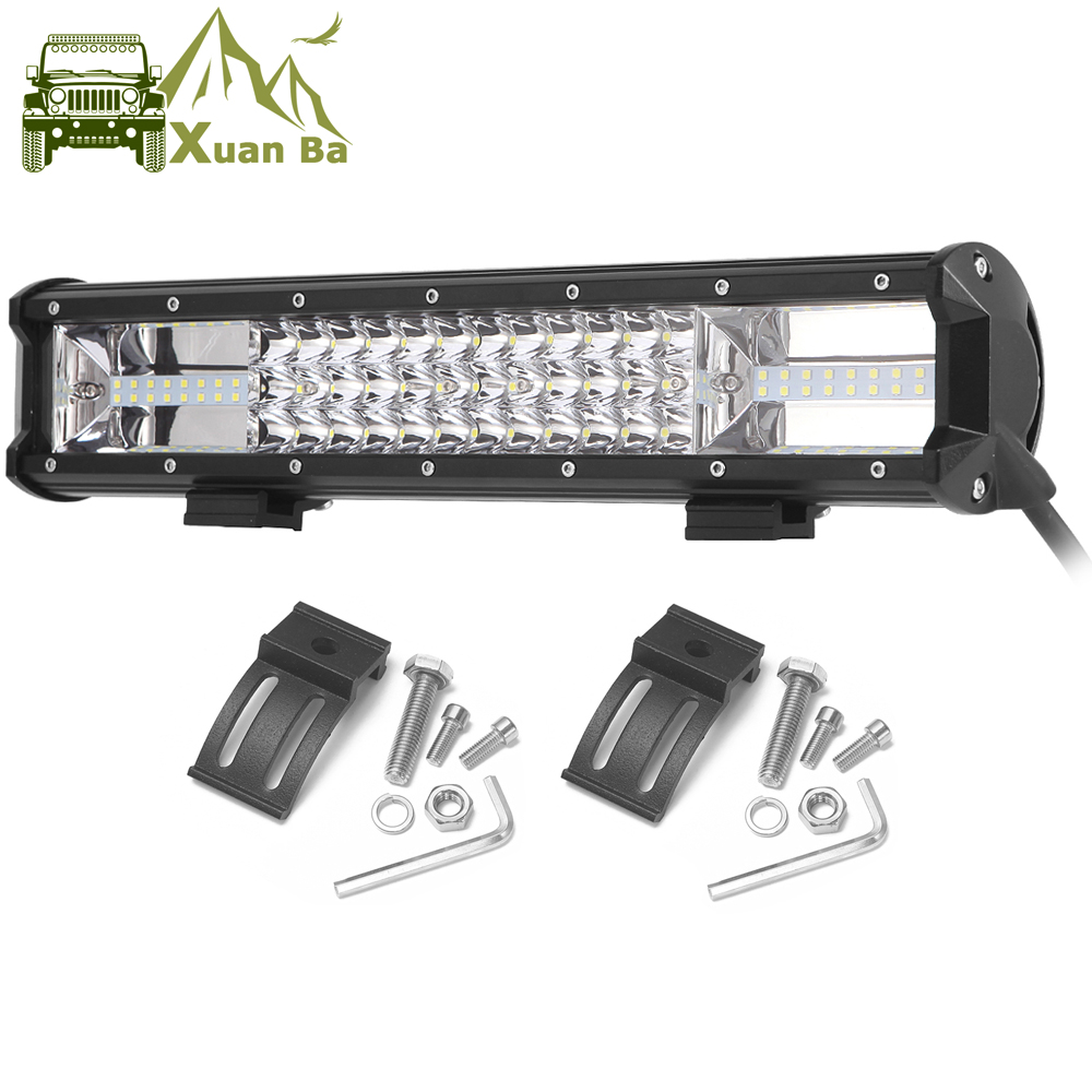 Triple Row Led Work Light Off road Bar For 12V Car Uza Boat ATV 4WD Suv Trucks 4x4 Offroad Lada Niva Combo Driving Barra Lights-in Light Bar/Work Light from Automobiles & Motorcycles