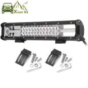 Image 1 - Üçlü satır Led çalışma ışığı Off road Bar için 12V araba Uza tekne ATV 4WD Suv kamyonlar 4x4 Offroad Lada Niva Combo sürüş Barra ışıkları