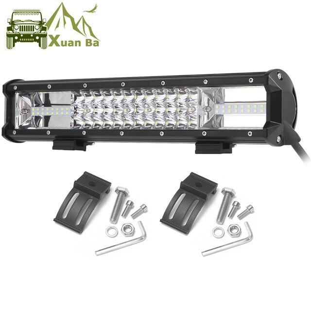 Üçlü satır Led çalışma ışığı Off road Bar için 12V araba Uza tekne ATV 4WD Suv kamyonlar 4x4 Offroad Lada Niva Combo sürüş Barra ışıkları