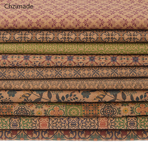 Lychee Life A4 Vintage Soft Cork Synthetic Leather Fabric For Garment Handbags DIY Sewing Materials(China)