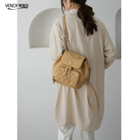 VENOF Luxury Split Leather Backpack For Women Fashion Travel Shoulder Bags Top Grade School Bags For Girls Mochilas Mujer 2020