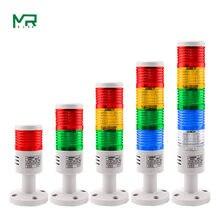 Dispositivo industrial giratório novo 12v 24 v 110 v 220 v do alarme da luz de advertência da torre do sinal 1 optional 5 opcional
