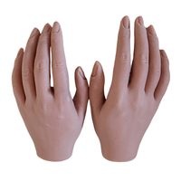 Soft Silicone Nail Art Practice Tool Fake Hands for Manicure Training Learning