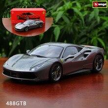 цена на Bburago 1:18 Ferrari 488 GTB car alloy car model simulation car decoration collection gift toy Die casting model boy toy