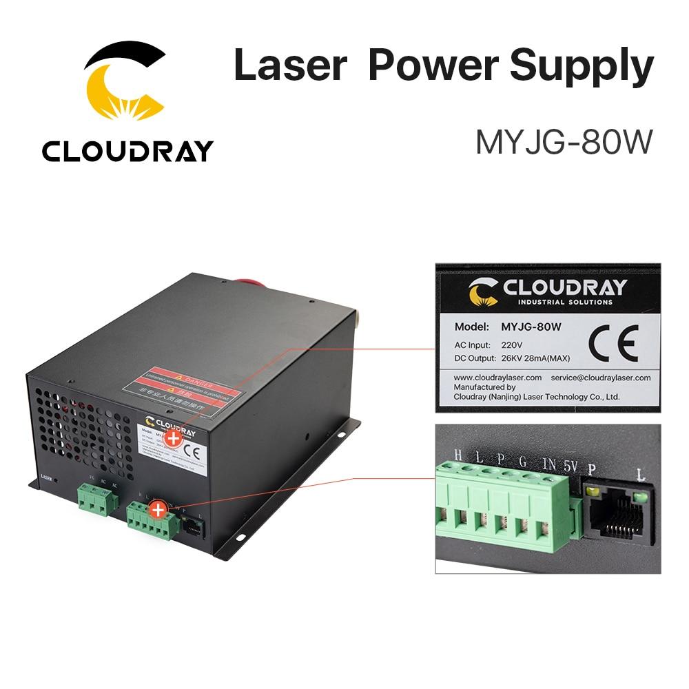Fuente de alimentación de láser de CO2 Cloudray 80W para la - Piezas para maquinas de carpinteria - foto 6