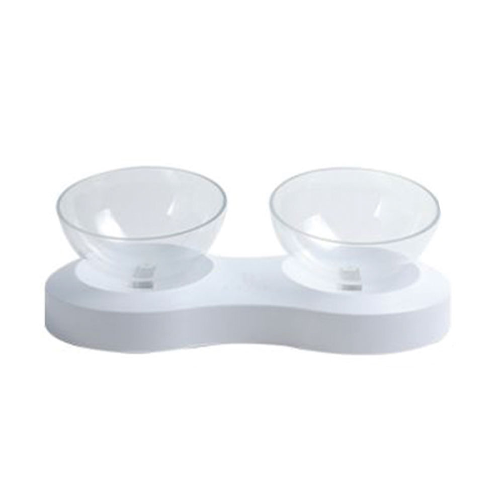 Pet Cats Transparent Bowl With Holder Anti slip Cat Food Dish Pet Feeder Water Bowl Perfect For Cats Small Dogs Supplies in Cat Feeding Watering Supplies from Home Garden
