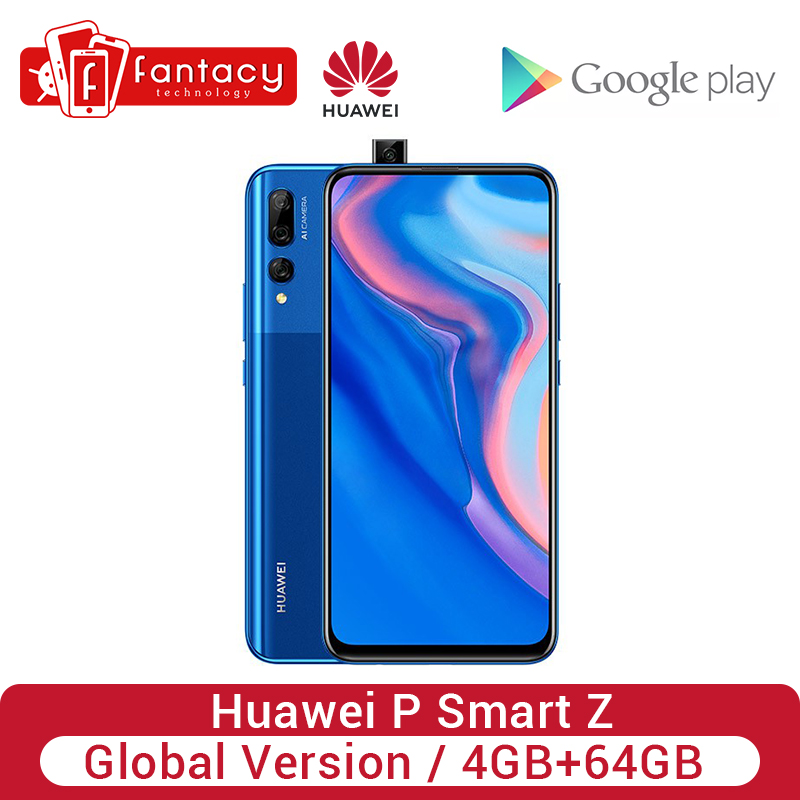 Global Version Huawei P Smart Z 4GB 64GB Kirin 710F Octa Core Smartphone Auto Pop Up Front Camera 6.59'' Cellphone NFC