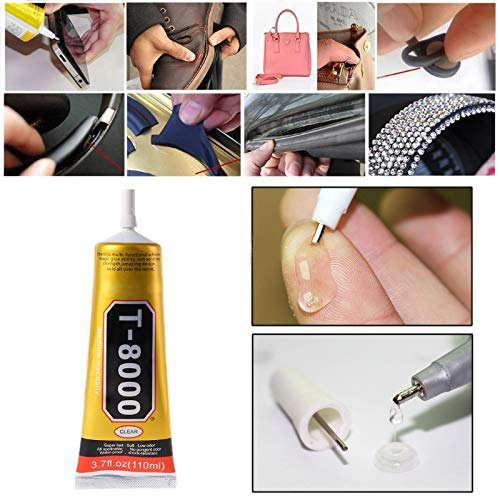 <font><b>T8000</b></font> <font><b>110ml</b></font> Industrial Strength Adhesive Clear Liquid Glue for Phone Touch Screen DIY Dry Flower Jewerly Craft Rhinestone Glue image