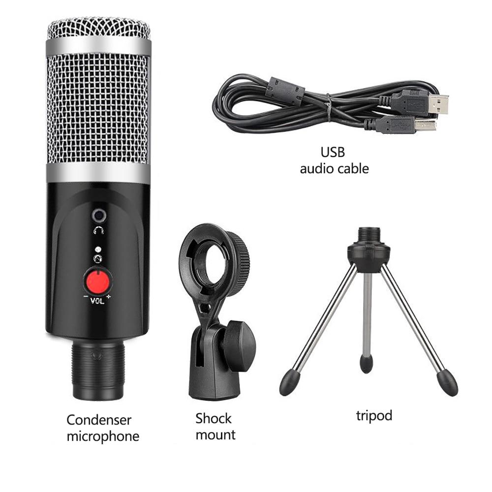 Кондензаторен микрофон със статив USB - Преносимо аудио и видео - Снимка 5