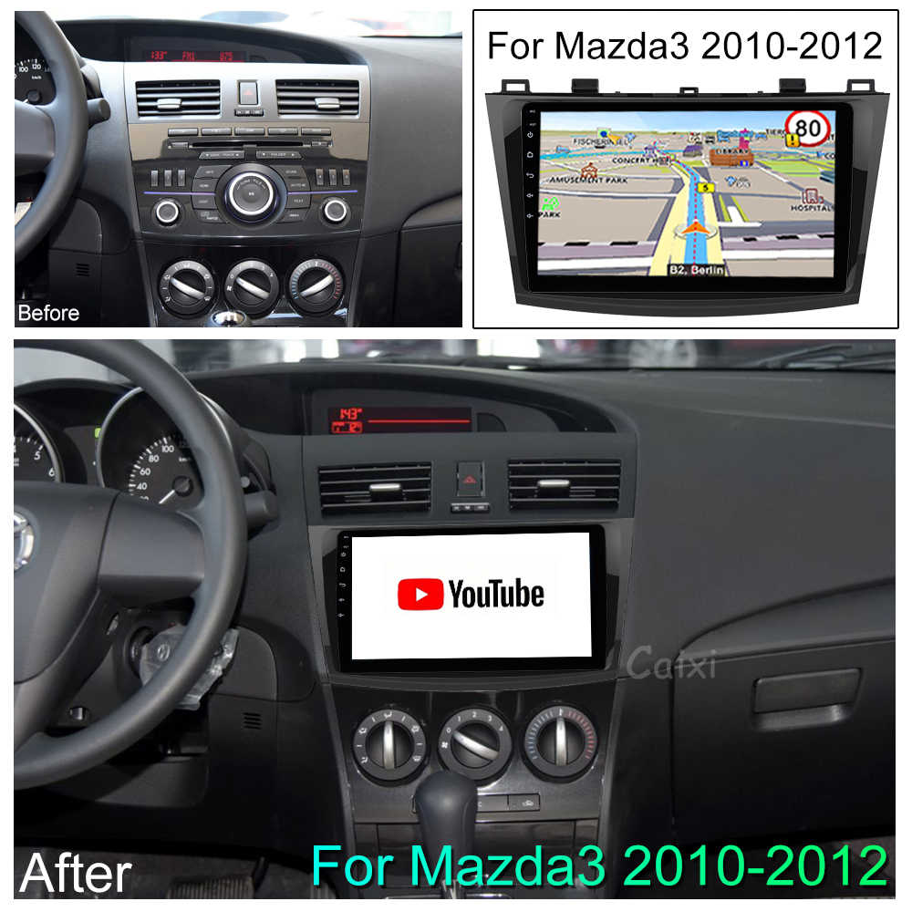 """CaiXi 9 """"أندرويد 8.1 سيارة الوسائط المتعددة دي في دي راديو لاعب لمازدا 3 2004-2013 2 الدين مشغل أسطوانات للسيارة لتحديد المواقع والملاحة راديو تلقائي مشغل إستريو"""