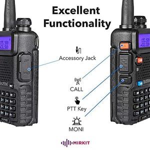Image 3 - 2 шт., Двухдиапазонная портативная рация Baofeng, любительская радиостанция, портативная рация, диапазон 5 Вт, VHF/UHF, CB радио