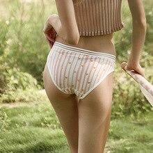 Women Underwear Sexy Cotton Briefs Japan Styles Super Cute Middle Waist Lingerie 1 Piece  Dropshipping