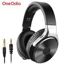 Oneodio auriculares de alta fidelidad para estudio, por encima de la oreja, con cable de sonido de alta definición, con micrófono, estéreo, para teléfono y guitarra