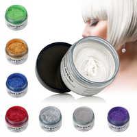 Neue 7 Farben Unisex Mode Temporäre Haar Farbe Wachs Schlamm Farbstoff Creme ungiftig DIY Styling Haar Creme Party buntstifte für Haar 120g