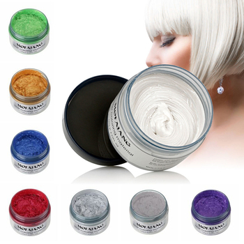 New 7 Colors Unisex Fashion Temporary Hair Color Wax Mud Dye Cream Non-toxic DIY Styling Hair Cream Party Crayons for Hair 120g