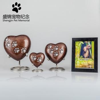 pet animal dog cat keepsake memorials ashes urns my heart shape crystal Cremation pendant Jewelry