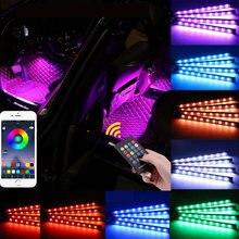 Цветная (rgb) Светодиодные ленты интерьер автомобиля атмосфера