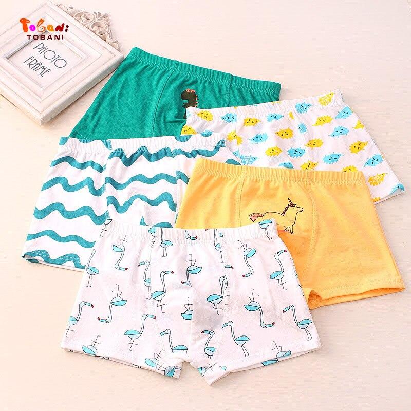 5 pcs/lot boys panties boxer children underwear male cotton shorts children underpants children cotton underwear Tobani 2