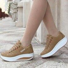 Women Sneakers Plus size 35-43 Lace Up Canvas Shoes Black Ca