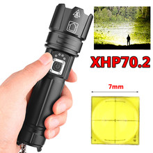 xhp70.2 Powerful led flashlight power bank function usb charging Stretch zoom 18650 or 26650 rechargeable torch Z90+1476(China)