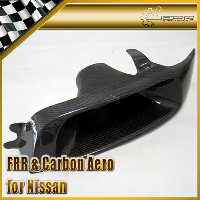 Car-styling For Nissan Skyline <font><b>R33</b></font> GTS GTR Carbon Fiber Vented <font><b>Headlight</b></font> Replacement Left Side Glossy Fibre Bumper Air Duct Part image