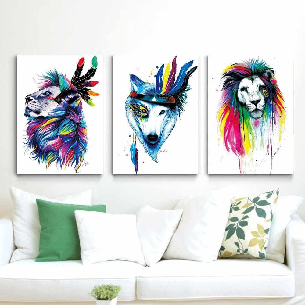 Животное масляная живопись Акварель Искусство все виды животных холст живопись абстрактный подарок живопись гостиная домашний декор роспись