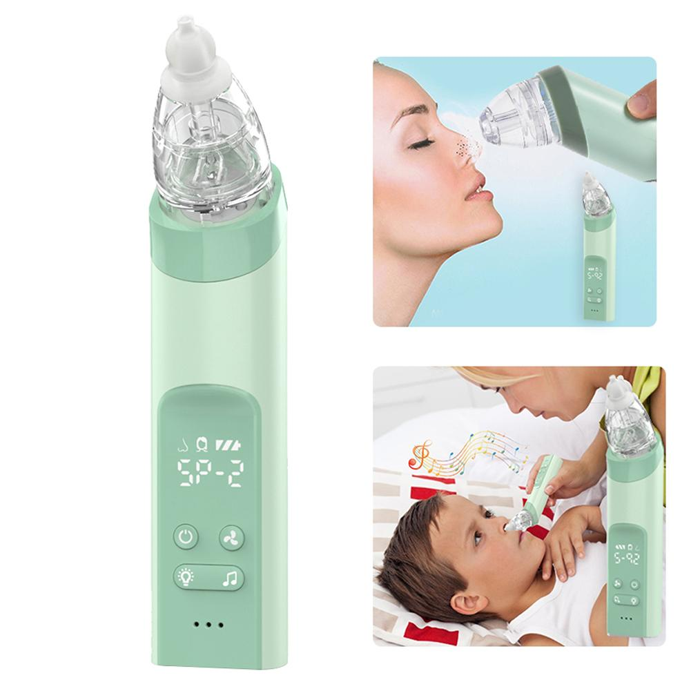 Kid Baby Nasal Aspirator Electric Nose Cleaner Baby Sucker Cleaner Sniffling Adult Blackhead Remover Equipment Safe Hygienic